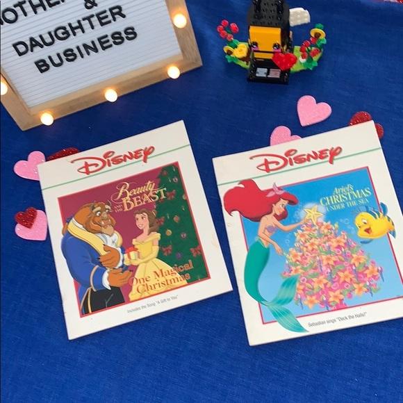 VTG Disney Little Mermaid Beauty & the Beast books